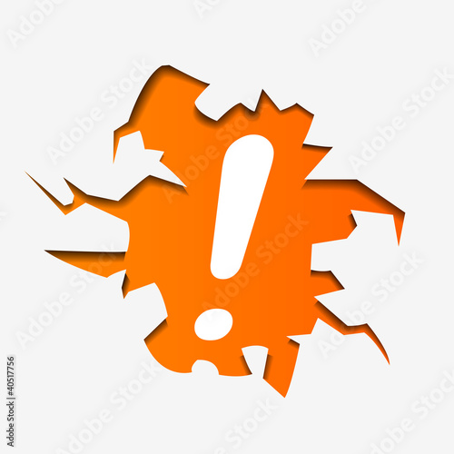 Abstract Illustration of exclamation Mark in hole