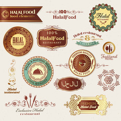 Halal food labels and elements