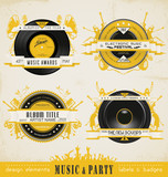 Vintage Music Labels. (actual download without sample text)