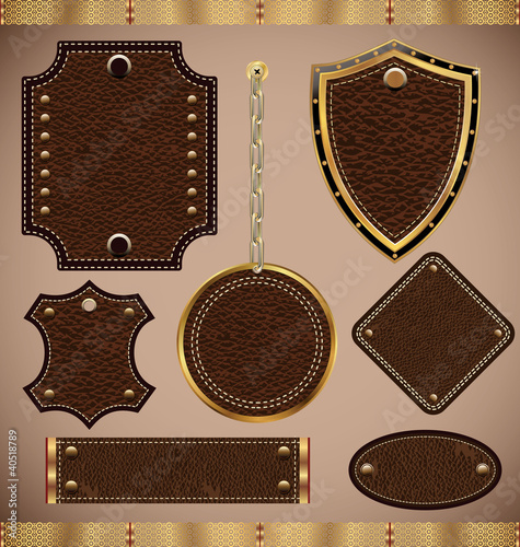 set of vector Leather Frame