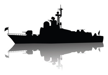 Soviet (russian) missile boat  silhouette