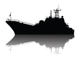 Soviet (russian) landing ship silhouette
