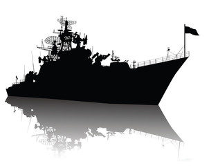 Soviet (russian) guided missile cruiser  silhouette