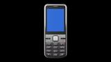 Mobile phone on black background. HD. Mask.