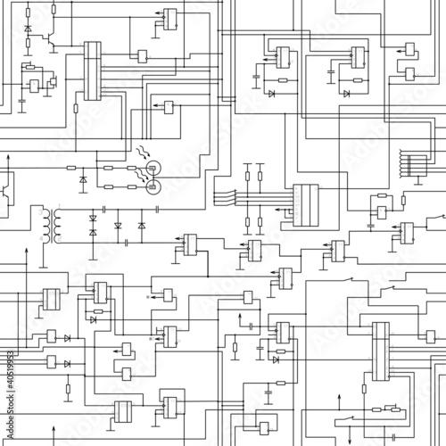 Vector Seamless Electrical Circuit Diagram Pattern Buy Photos Ap