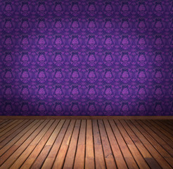 purple wallpaper room