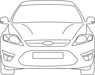 Ford Mondeo vector face