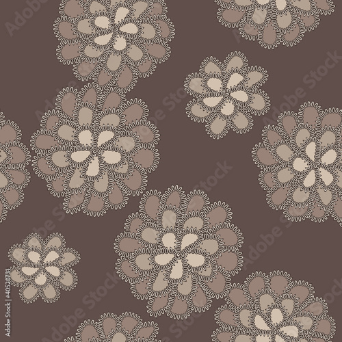 Vector lace floral pattern © amirage