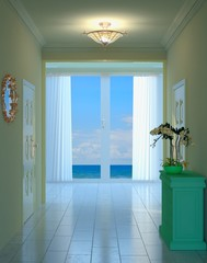 Hallway and Ocean View