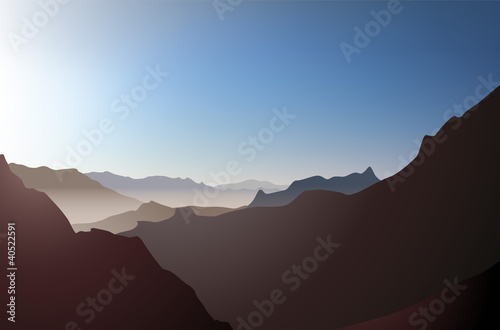 Landscape rocks, vector
