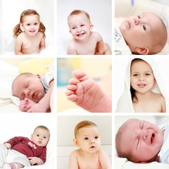 Babies and kids collage