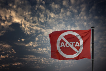 Acta Protest Banner