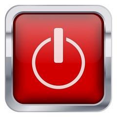 Kırmızı kapama ikonu