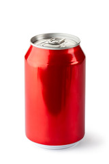 Aluminum can with the ring pull