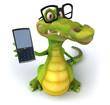 Crocodile et lunettes