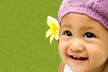 closeup asian baby adorable smile