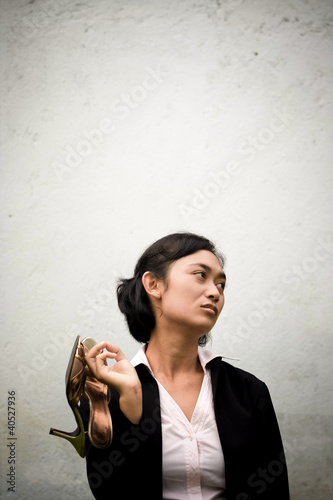 tired and depressed businesswoman