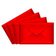 Vector illustration of red envelopes