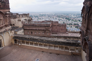 Meherangarh Fort in Jodhpur, Rajasthan, India