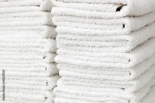 white and fluffy towels