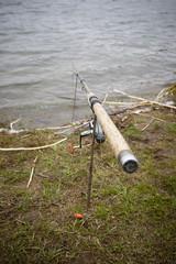 Light feeder rod waitng for a big fish.