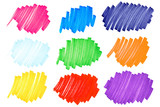 Fototapety Colorful ink blots-very large-set2