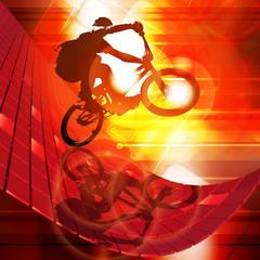 Illustration of BMX cyclist