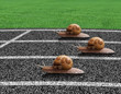Snails race on sports track - 40531560