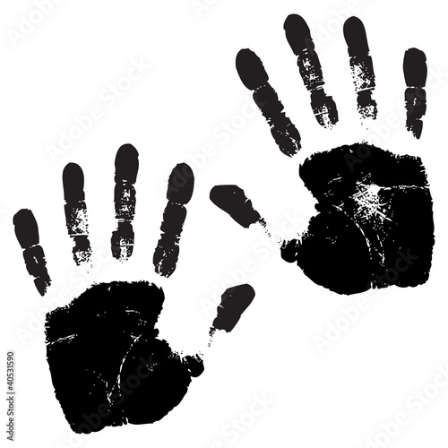 hands print vector illustration