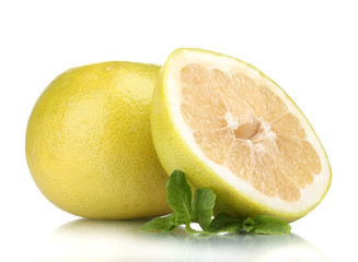 Pomelo or Chinese grapefruit isolated on white