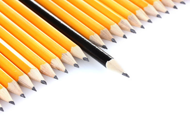 lead pencils isolated on white