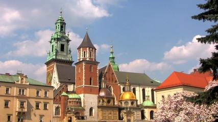 Sigmund Cathedral and Wawel Castle at spring, Krakow, Poland
