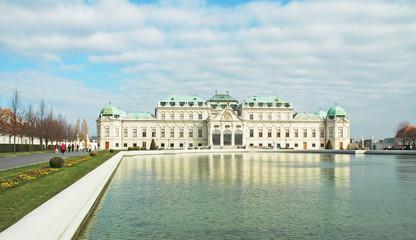 Il Belvedere che si riflette nell'acqua a Vienna