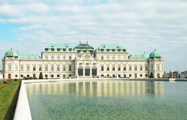Il Belvedere in una mattinata primaverile a Vienna