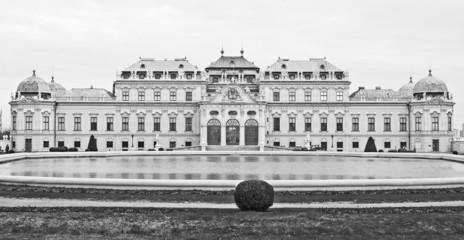 Il Belvedere di Vienna in bianco e nero