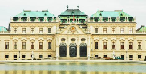 Facciata del Belvedere a Vienna