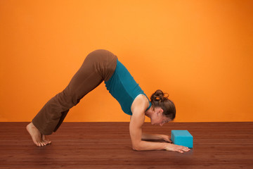 Woman Practicing Yogasana