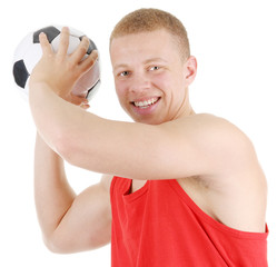 Guy holding a football