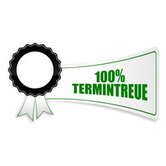 sticker siegel 100% termintreue I