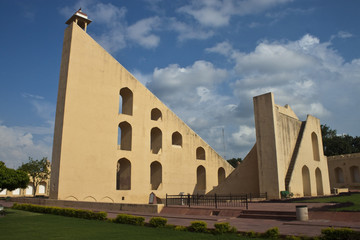Worlds biggest sundial at Jantar Mantar, Jaipur, India