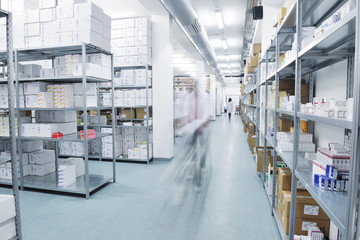 medical factory  supplies storage indoor