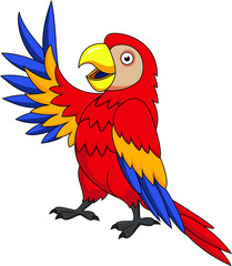Funnny Parrot cartoon