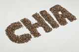 chia seeds and word