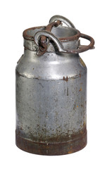 rusty nostalgic milk can