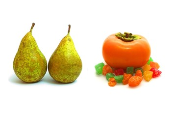Pears and persimmon