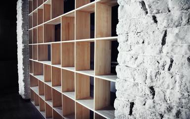 Empty wooden cabinet