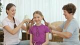Cute girl with braids