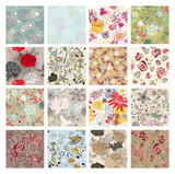 Fototapety set of seamless floral background