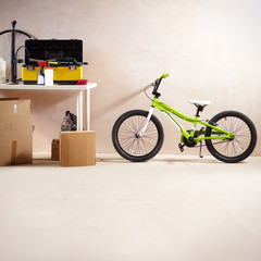 Mountain bike and equipment © pressmaster