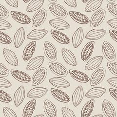 seamless cacao pod pattern
